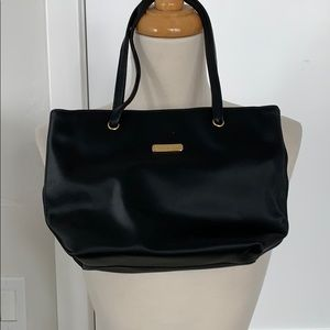 St. John small black fabric tote.